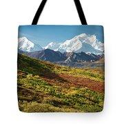 Denali Autumn Tote Bag by Tim Newton