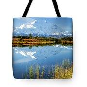 Denali Reflection Tote Bag by Tim Newton