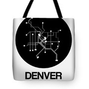 Denver Black Subway Map Tote Bag