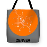 Denver Orange Subway Map Tote Bag