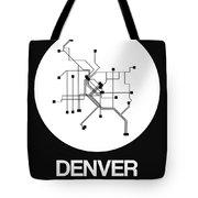 Denver White Subway Map Tote Bag