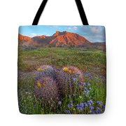 Desert Bluebell In Spring With Barrel Tote Bag