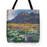 Desert Sand Verbena, Desert Sunflower Tote Bag