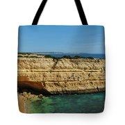 Deserta Beach Scene In Algarve Tote Bag