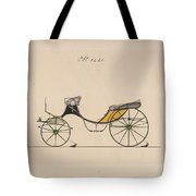 Design For Cabriolet Or Victoria, No. 3221 Brewster And Co. American, New York Tote Bag