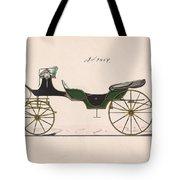 Design For Cabriolet Or Victoria, No. 3459  1875 Tote Bag