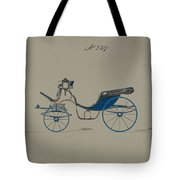 Design For Cabriolet Or Victoria, No. 3719 Brewster And Co. American, New York Tote Bag