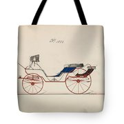 Design For Eight Spring Victoria, No. 1056   B. Wegers American, Active 1850-75 Tote Bag