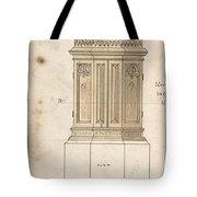 Design For Font Cover Ernest Geldart British, Londn 1848-1929 Tote Bag