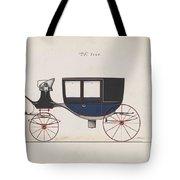 Design For Glass Panel Coach, No. 3133  1875 Tote Bag