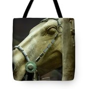 Details Of Head Of Horse From Terra Cotta Warriors, Xian, China Tote Bag