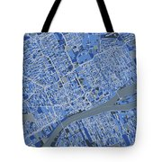 Detroit Map Retro 5 Tote Bag