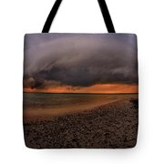 Detroit Point Storm Moving In Tote Bag