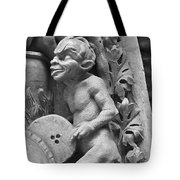 Devil Fanning The Fire, From The Last Judgement Of The Cathedral Of St Etienne In Bourges  Tote Bag