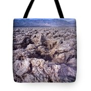 Devil's Golf Course Cloudy Morning Tote Bag