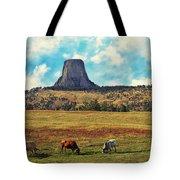 Devil's Tower Wyoming Tote Bag by Gerlinde Keating - Galleria GK Keating Associates Inc