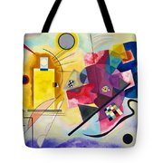 Digital Remastered Edition - Yellow, Red, Blue Tote Bag
