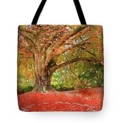 Digital Watercolor Painting Of Beautiful Autumn Fall Nature Fair Tote Bag