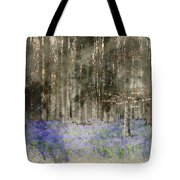 Digital Watercolor Painting Of Stunning Landscape Of Bluebell Fo Tote Bag