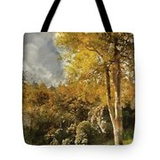 Digital Watercolor Painting Of Stunning Vibrant Autumn Forest La Tote Bag