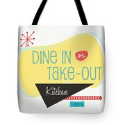 Dine In Kitchen - Art By Linda Woods Tote Bag