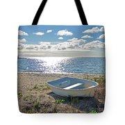 Dinghy On A Sunny Beach Tote Bag