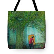 Discovery An Abstract Painting By Laura Hunt Tote Bag