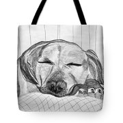 Django Napping Tote Bag
