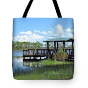 Dock On The River Tote Bag