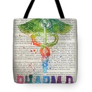 Doctor Of Pharmacy Gift Idea With Caduceus Illustration 03 Tote Bag