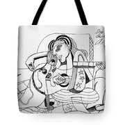 Dog Playing Guitar Tote Bag by Anthony Falbo