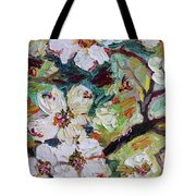 Dogwood Blossoms Oil Painting  Tote Bag by Ginette Callaway