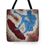 Don Quixote On A Surfboard Tote Bag