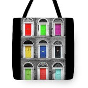 Doors Of Dublin - Vertical Tote Bag