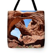 Double Arch In Utah Park During Summer Time  Tote Bag