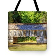Double Crib Barn In Cades Cove In Smoky Mountains National Park Tote Bag