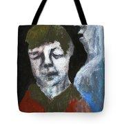 Double Portrait On Black Tote Bag
