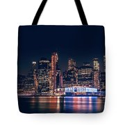 Downtown At Night Tote Bag by Dheeraj Mutha