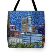 Downtown Raleigh - City At Night Tote Bag