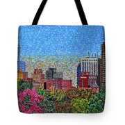 Downtown Raleigh - October Sunset Tote Bag