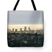 Downtown Sunset Tote Bag by Juan Contreras