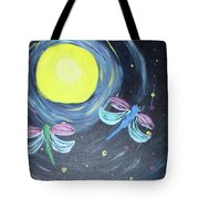 Dragonflies And Moonlight Tote Bag