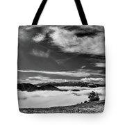 Dramatic Yet Serene Tote Bag by Leland D Howard