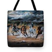 Dream Horse Series 125 - Flat Bottom River Wild Horse Herd Tote Bag