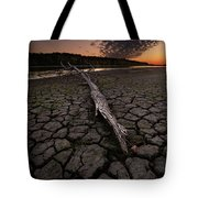 Dry Banks Of Rainy River After Sunset Tote Bag