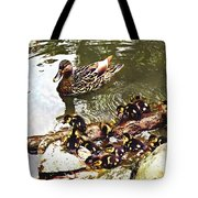 Duck Family Tote Bag by Susan Savad