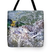 Duck Fight Tote Bag