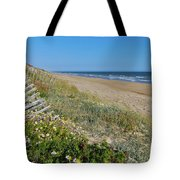 Dunes Wooden Fence Tote Bag