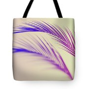 Duotone Background Of Tropical Palm Leaves Tote Bag