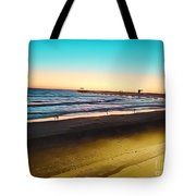Dusk On The Strand Tote Bag